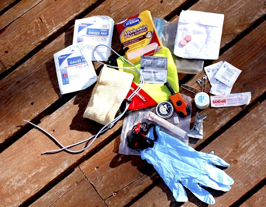 Items for first aid kit