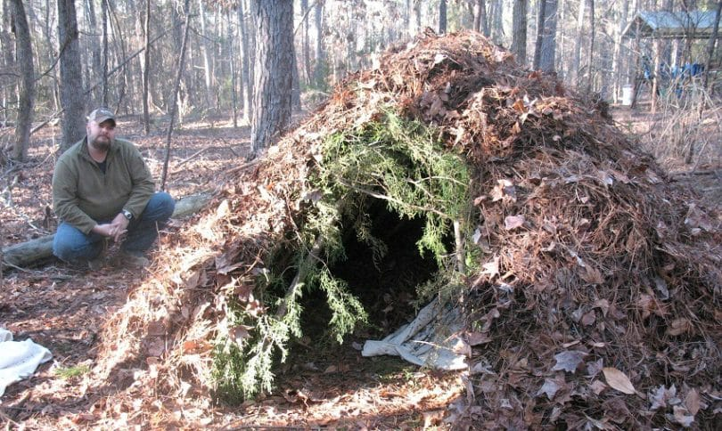 Learn to build survival shelter