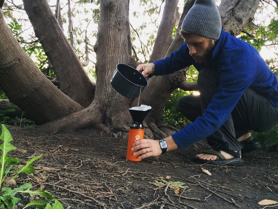 Making coffee in the wild