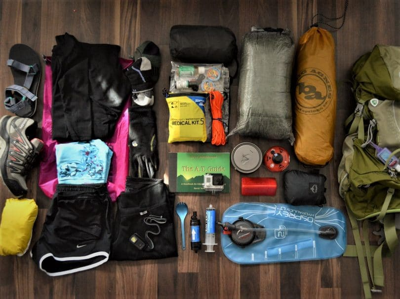 Various gadgets for hikers top shot