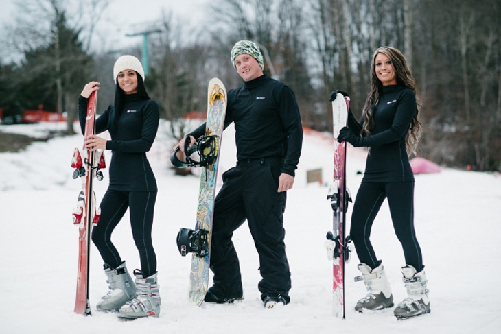Base layers for skiing