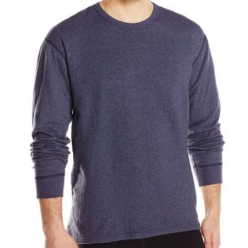 ColdPruf Men's Authentic Dual Layer Long Sleeve Wool Plus Crew Neck Base Layer Top