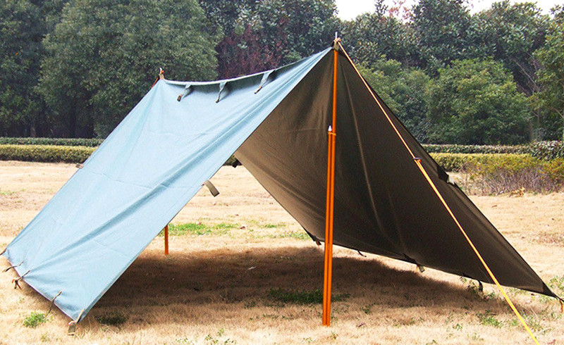 Grounded tent sticks tightly secured