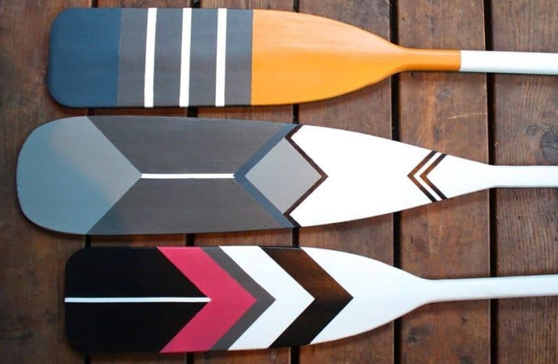 3 paddles with cool design