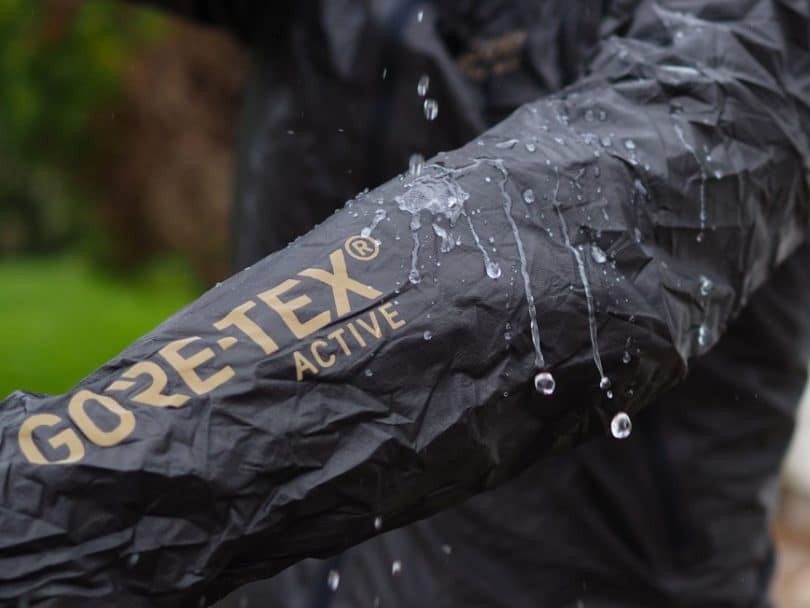 Gore-Tex Black-jacket hand detail