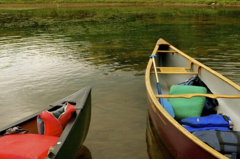 two canoes on a river