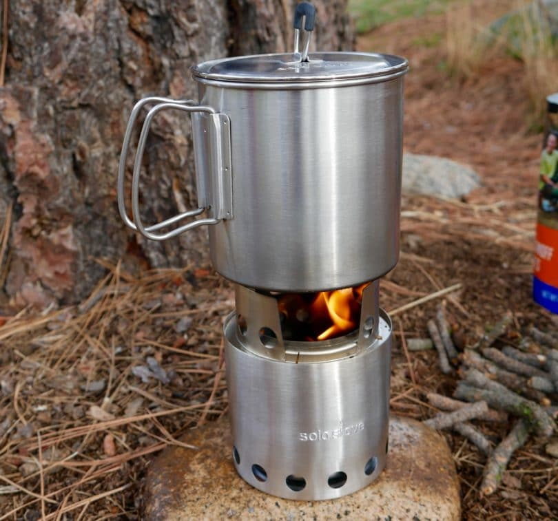Solo Stove with pot