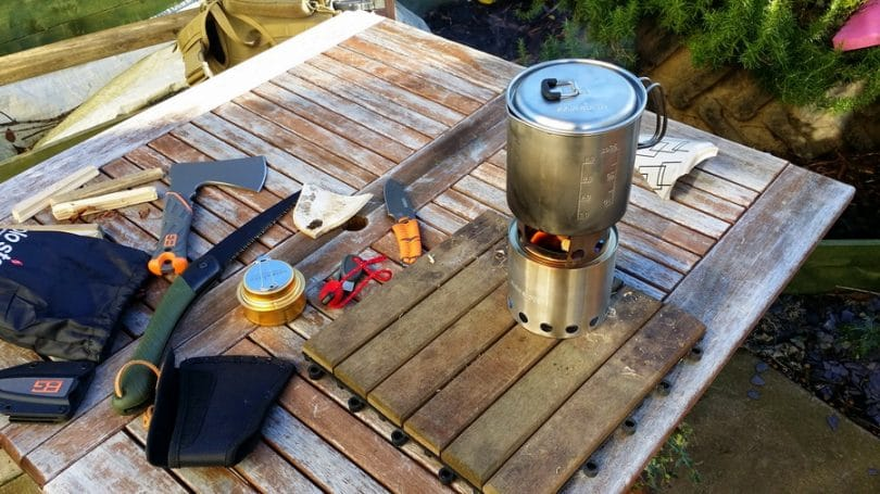 Solo Stove on the backpacking trip