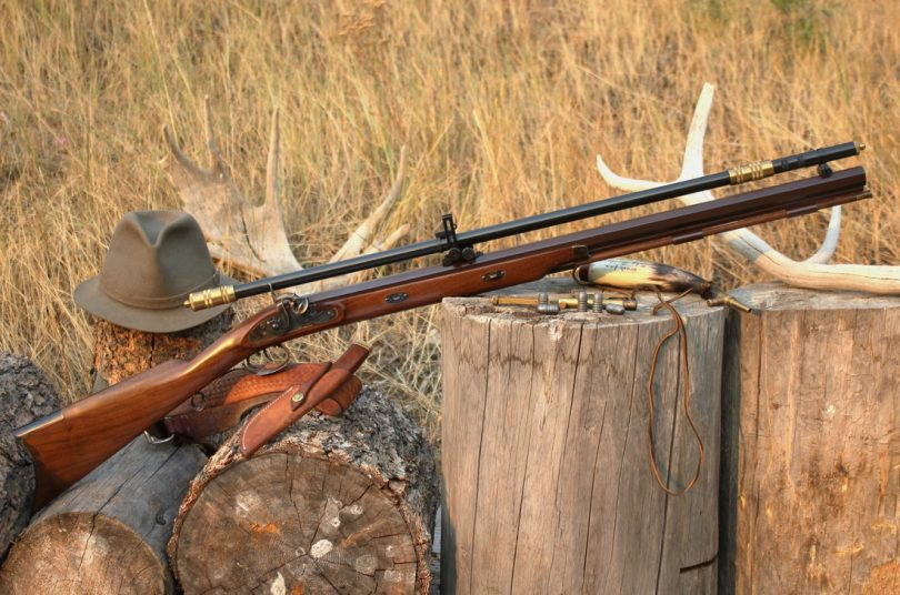 A wooden rifle in autumn