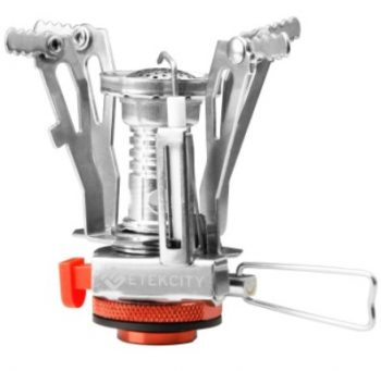 ETEKCITY PORTABLE CAMPING STOVE WITH PIEZO IGNITION