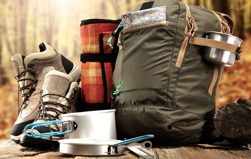 Backpack with gadgets