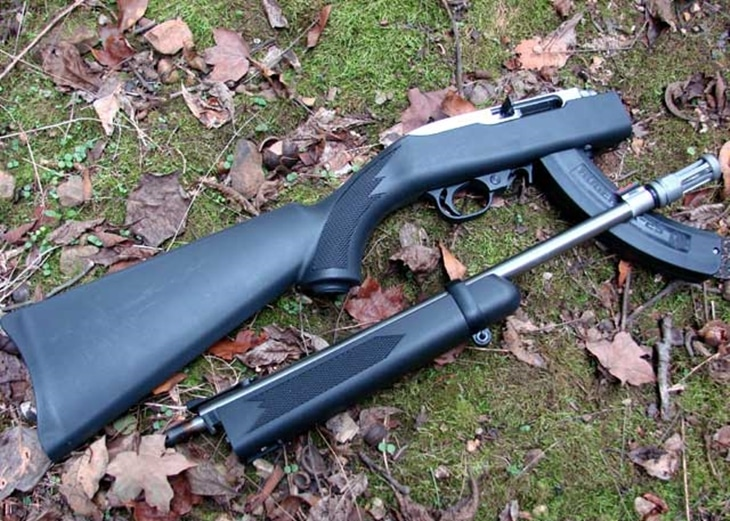 Take-Down rifle on the grass