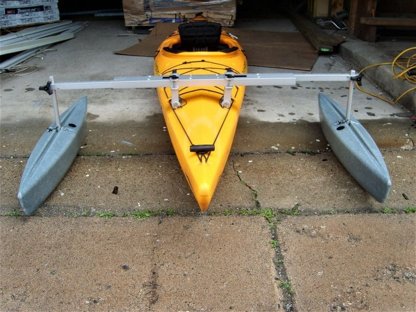 Two kayak stabilizers