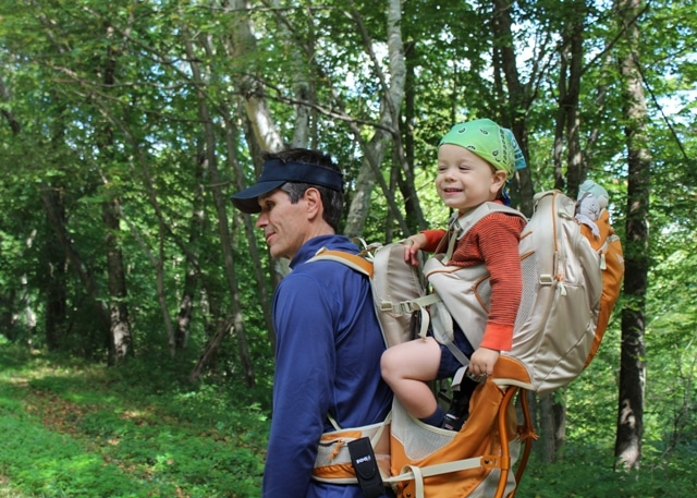 Child carrier for hiking