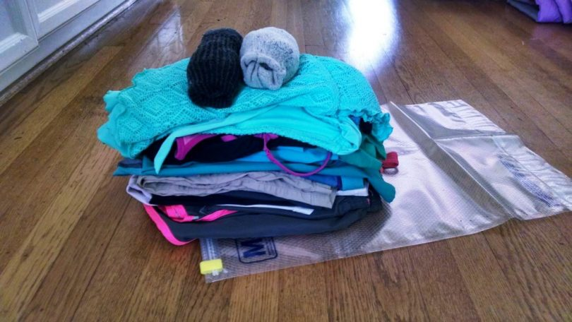 Clothes prepared for traveling