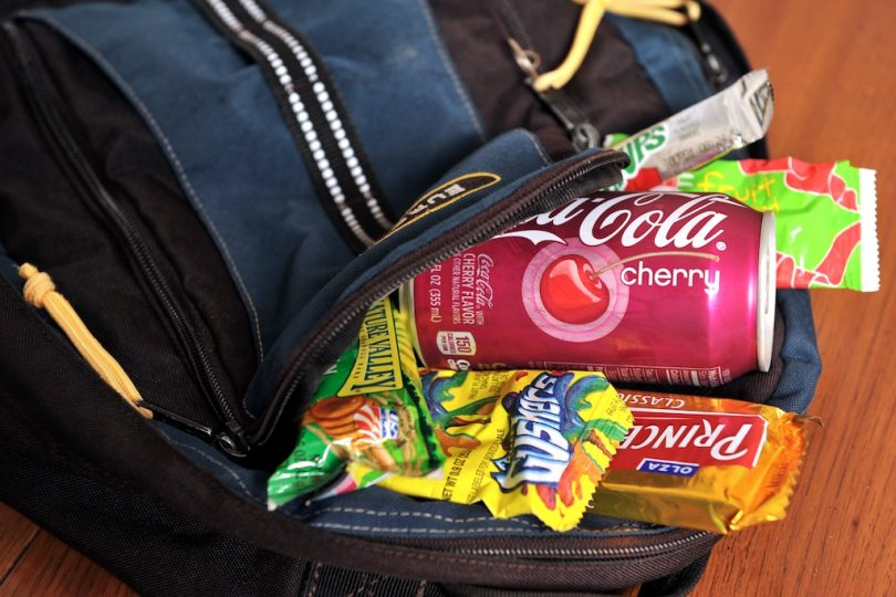 Food into backpack