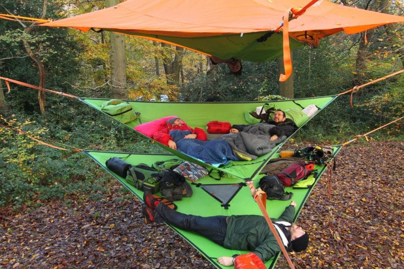 Hammock tents suspensions