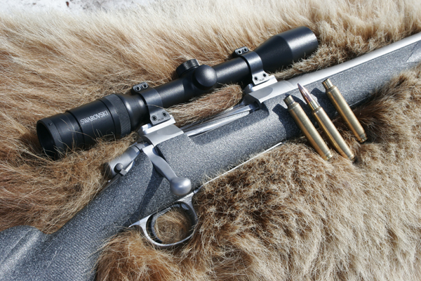 Rifle for hunting wolves