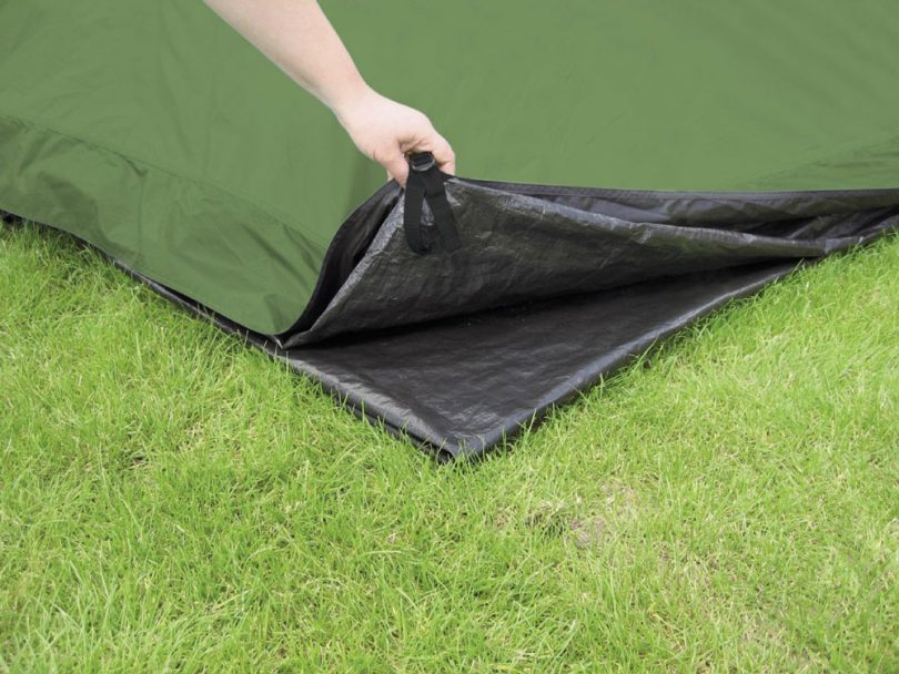 Tarp as tent flooring