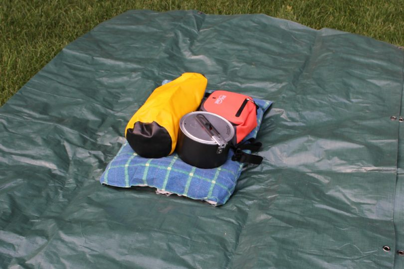 Tarp as secondary pack