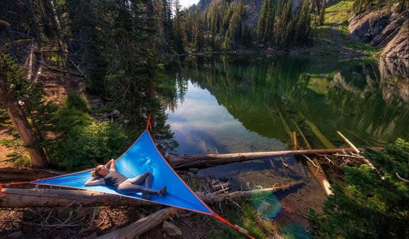 Tentsile hammock tent over the water
