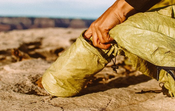 putting bivy sack in case