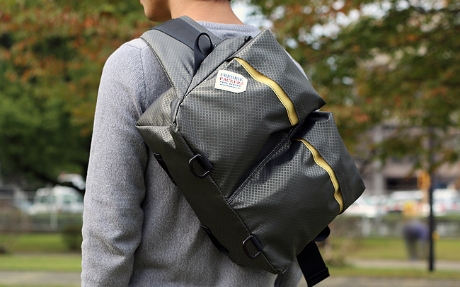 A nylon backpack