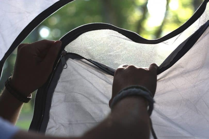 A tent zipper repair