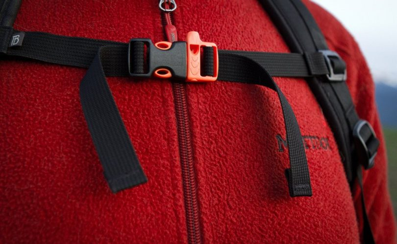 Backpack sternum straps