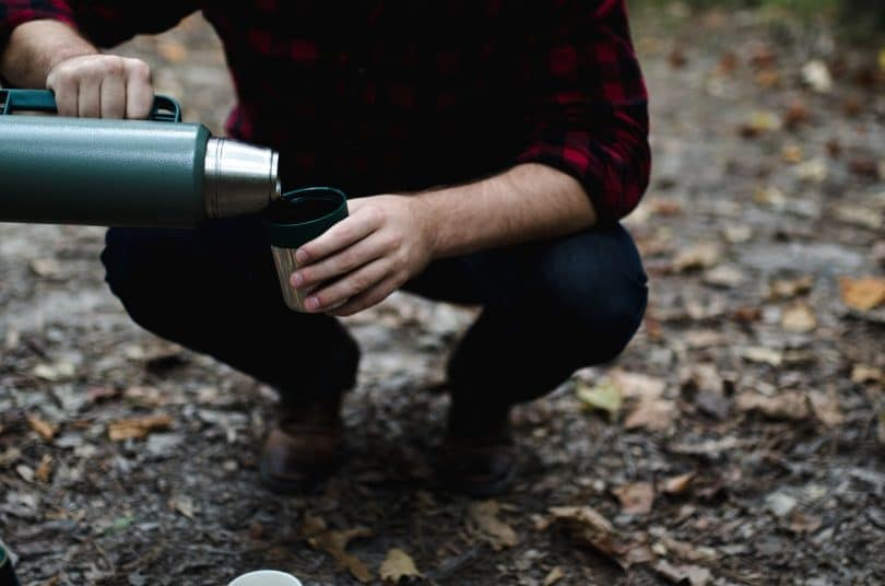 Camping coffee thermos
