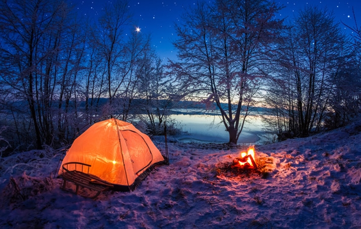Camping in the winter