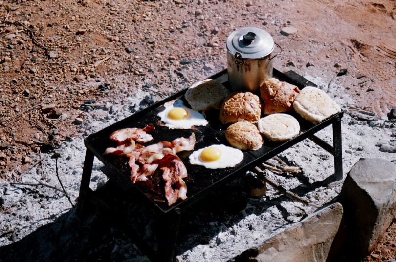 Easy camping breakfas
