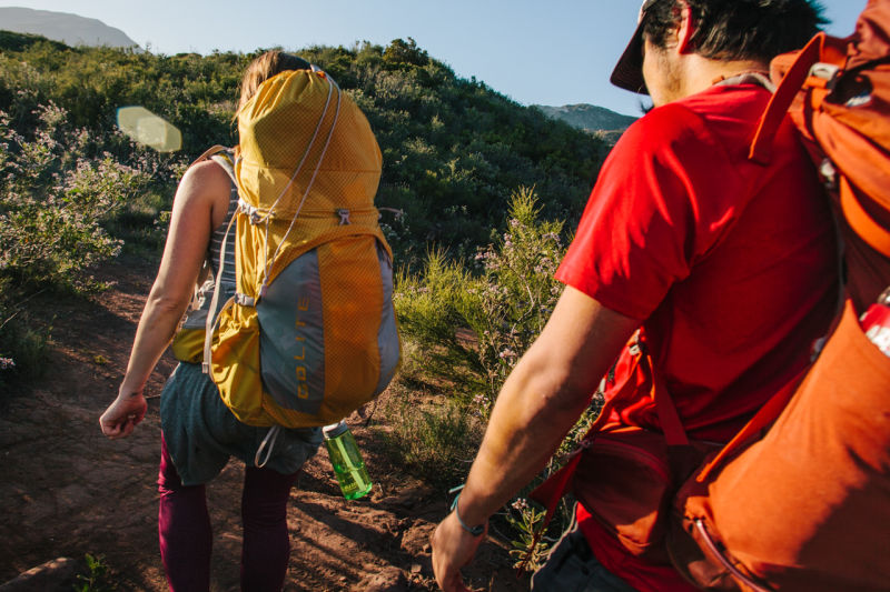 Hikers with backpacks