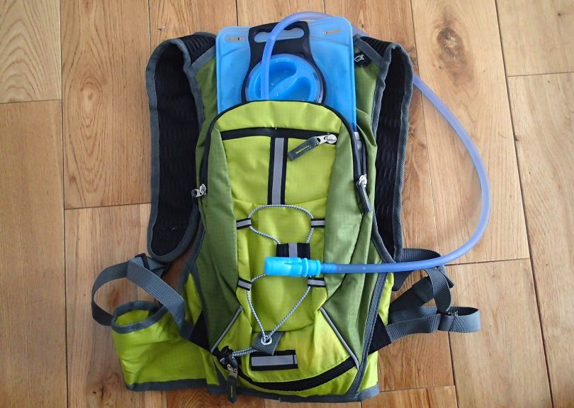 Hydration systems on backpack