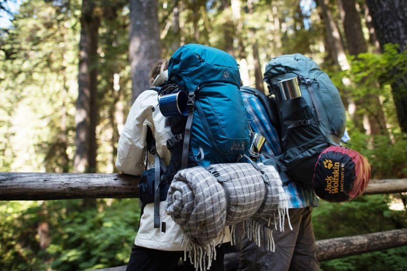The hiking backpacks