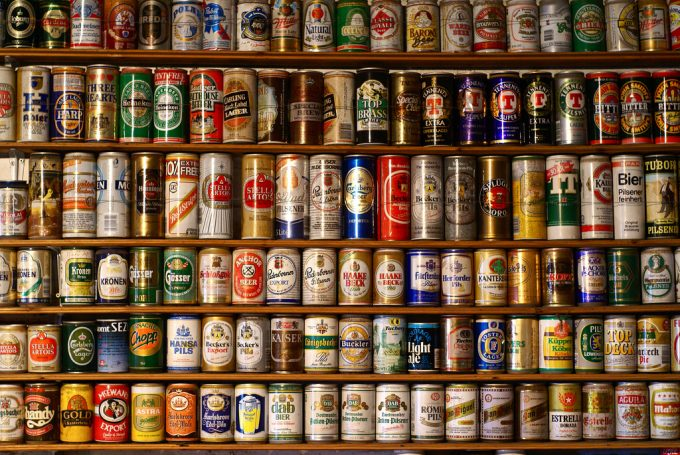 different beer cans