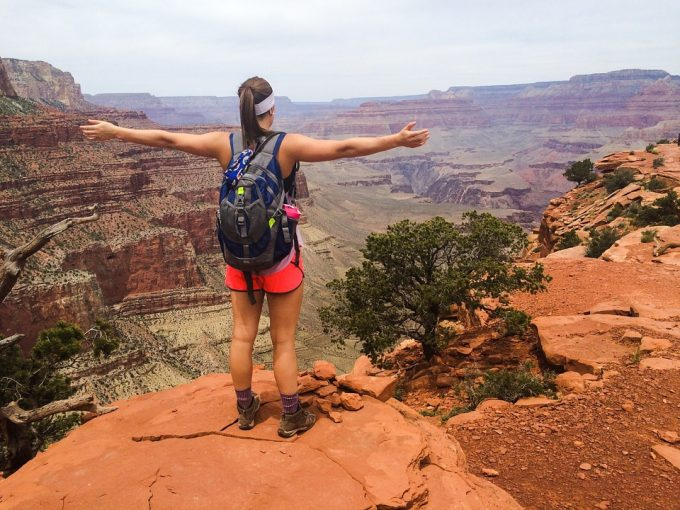Enjoying beautiful grand canyon landscape