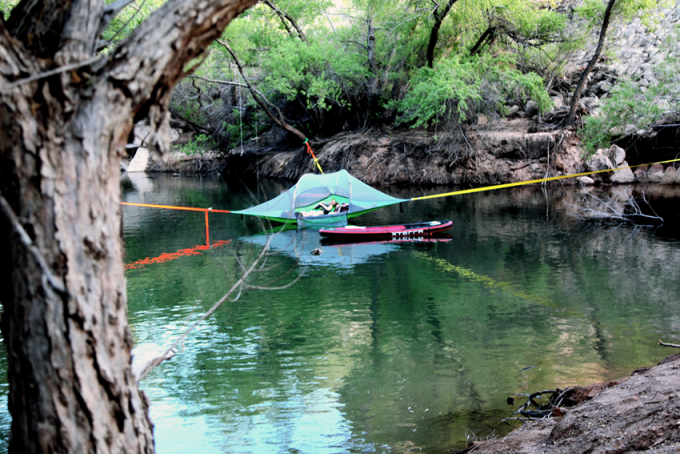 Hammock Tent Over The Water