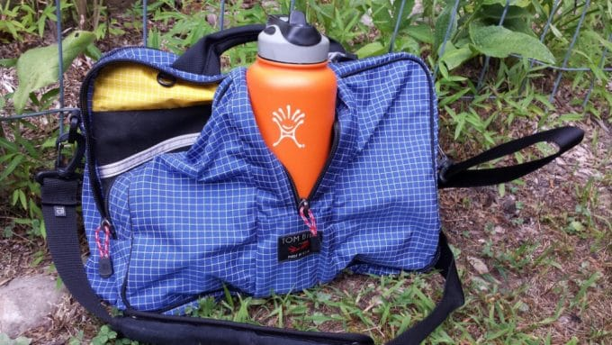 Hiking bag with bottle
