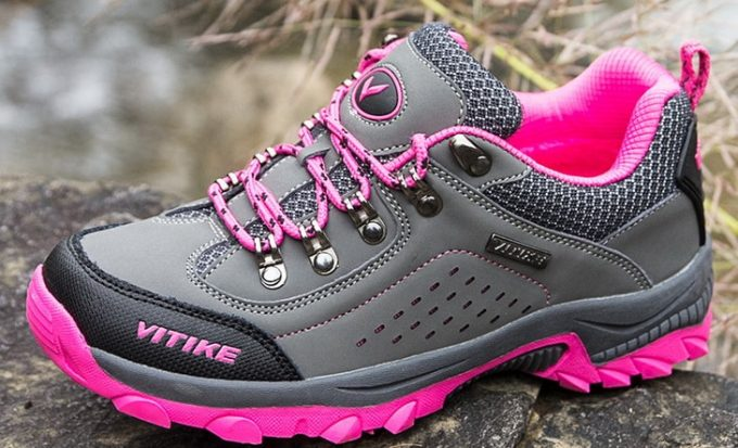 cool pink kids hiking shoes