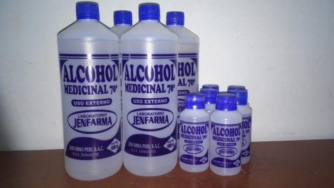 bottles of medicinal alcohol