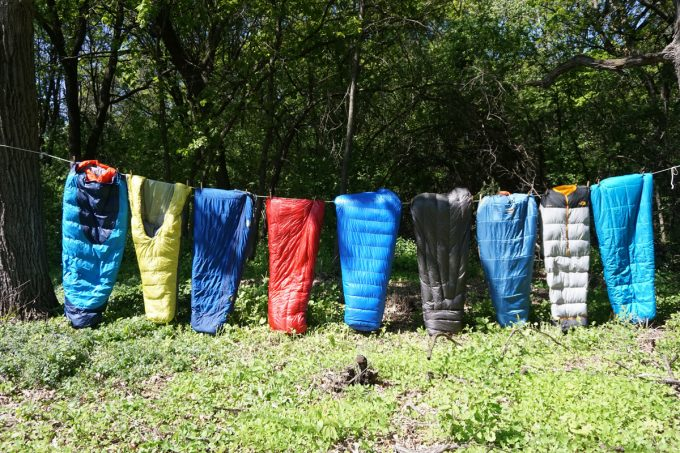 different kinds of sleeping bags