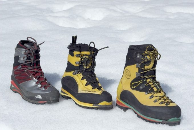 different types of mountaineering boots
