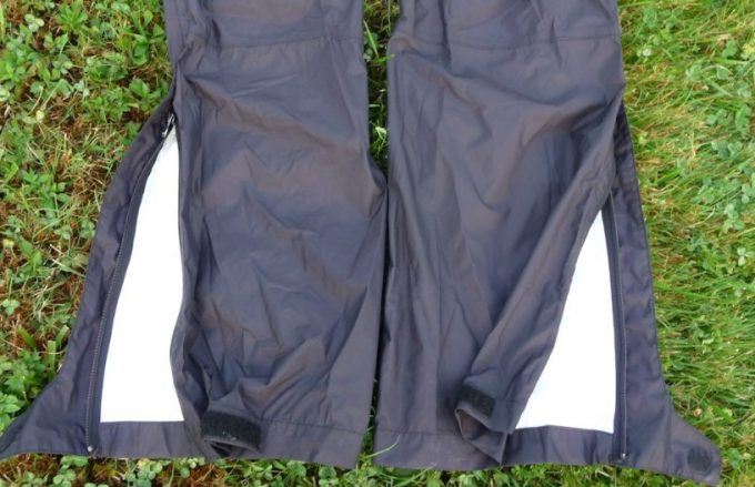 rain pants on grass