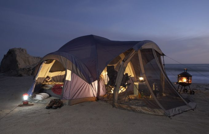 tent with rooms
