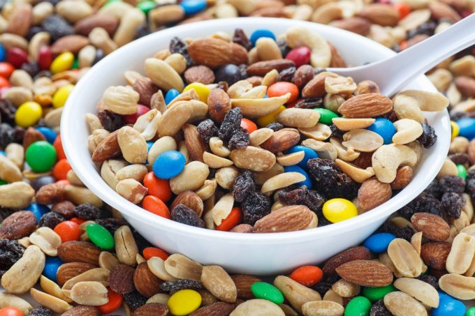 bowl of trial mix