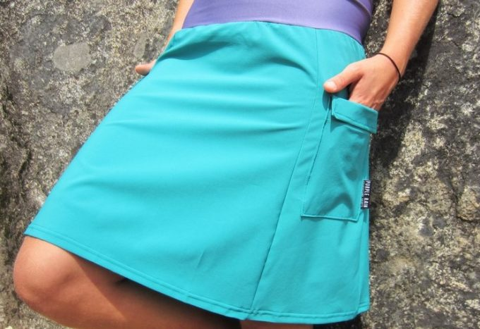 woman in a hiking skirt with pockets