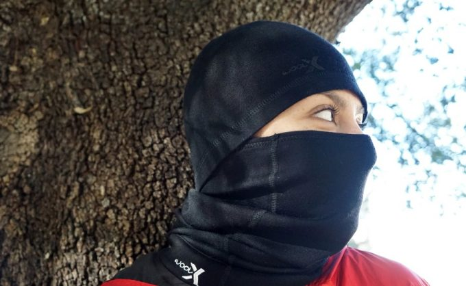 woman with neck gaiter