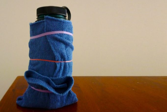 towel on thermos