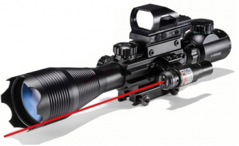 AR15 Tactical Rifle Scope 4-16x50EG Dual Illuminated